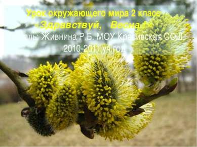 Урок окружающего мира 2 класс «Здравствуй, Весна ! » Учитель: Живнина Р.Б. МО...