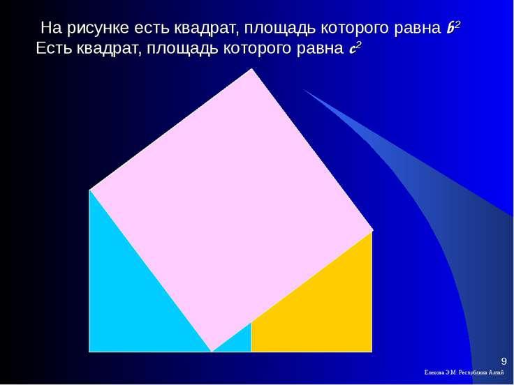 На рисунке есть квадрат, площадь которого равна b2 Есть квадрат, площадь кото...