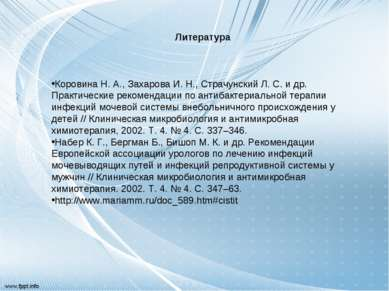 Литература Коровина Н. А., Захарова И. Н., Страчунский Л. С. и др. Практическ...
