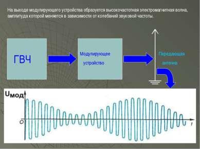 ГВЧ Модулирующее устройство На выходе модулирующего устройства образуется выс...