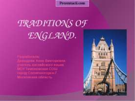 TRADITIONS OF ENGLAND