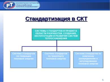 * Стандартизация в СКТ
