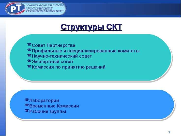 * Структуры СКТ Совет Партнерства Профильные и специализированные комитеты На...