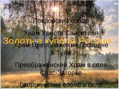 Покровский собор Храм Христа Спасителя Храм Преображения Господне в Туле Прео...