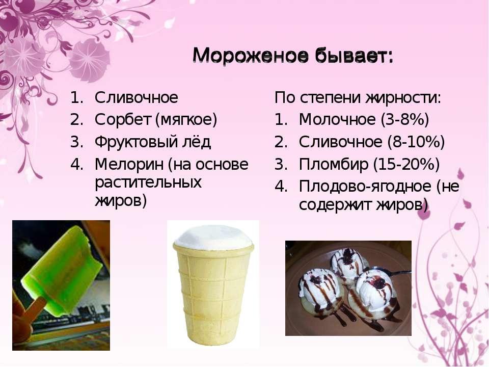 Сценарий на тему мороженое
