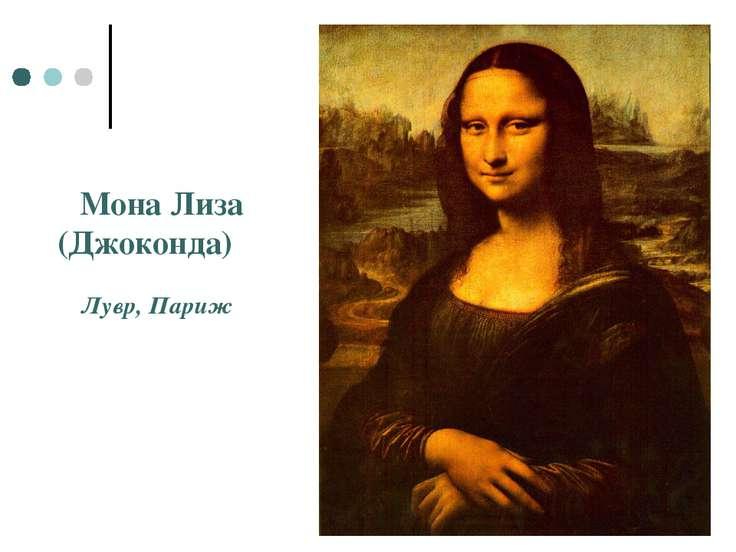 Мона Лиза (Джоконда) Лувр, Париж