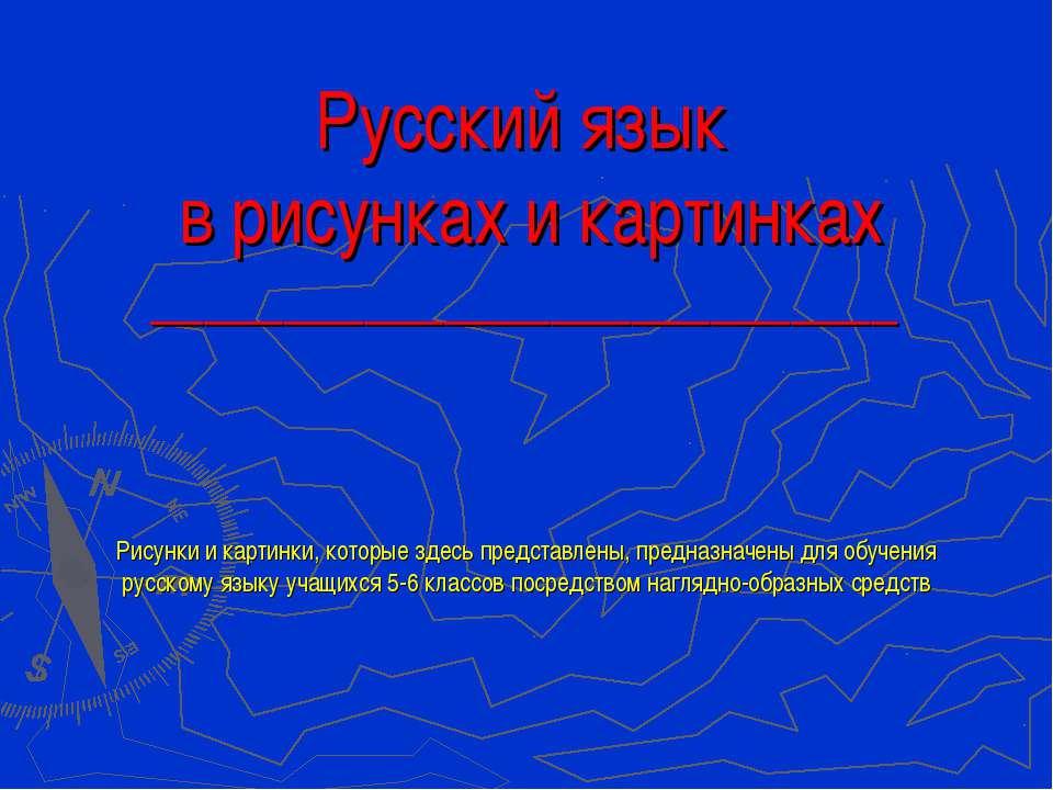 Русский язык в рисунках и картинках ____________________________ Рисунки и ка...