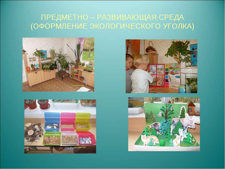 Создание развивающей среды в домашних условиях