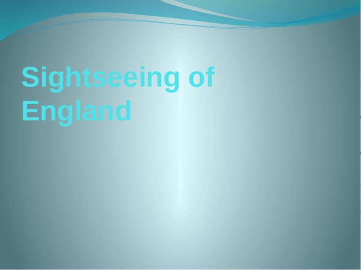Sightseeing of England
