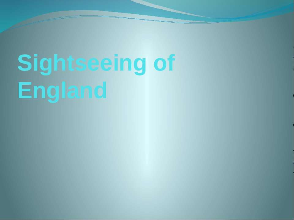 Sightseeing of England