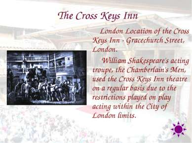 The Cross Keys Inn London Location of the Cross Keys Inn - Gracechurch Street...