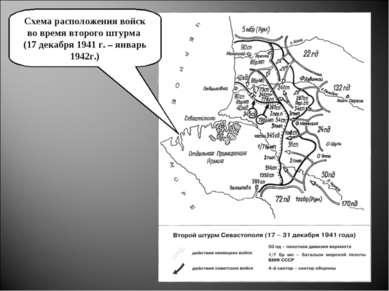 Схема расположения войск во время второго штурма (17 декабря 1941 г. – январь...