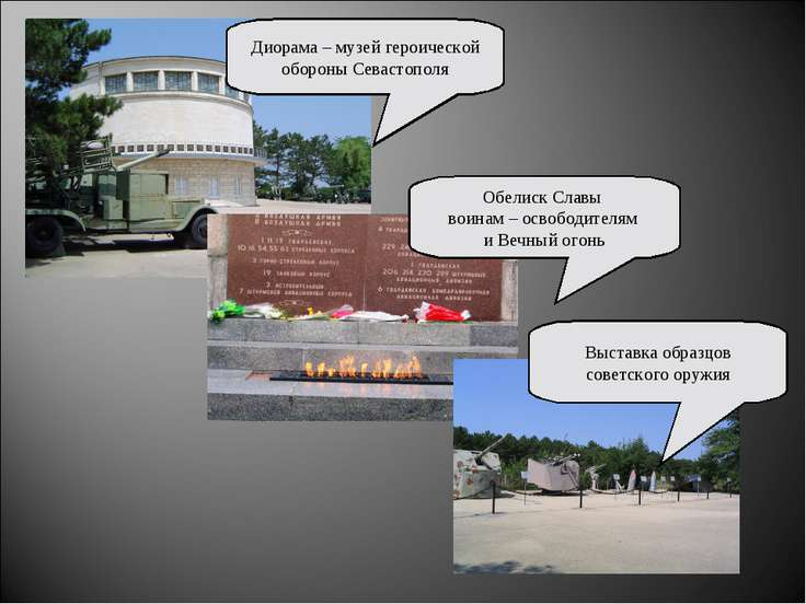 Диорама – музей героической обороны Севастополя Обелиск Славы воинам – освобо...