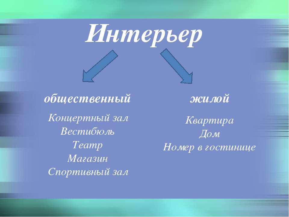 Интерьер общественный жилой Концертный зал Вестибюль Театр Магазин Спортивный...