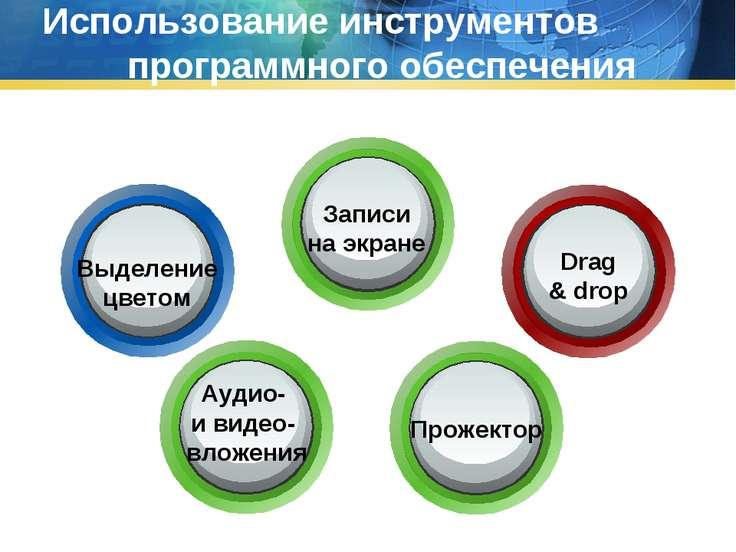 Использование инструментов программного обеспечения Выделение цветом Записи н...