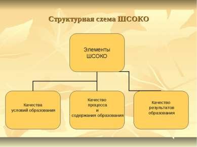 Структурная схема ШСОКО