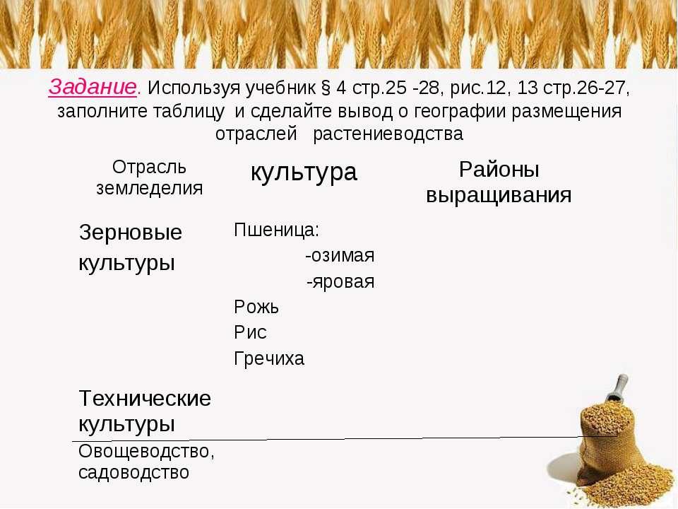 Задание. Используя учебник § 4 стр.25 -28, рис.12, 13 стр.26-27, заполните та...