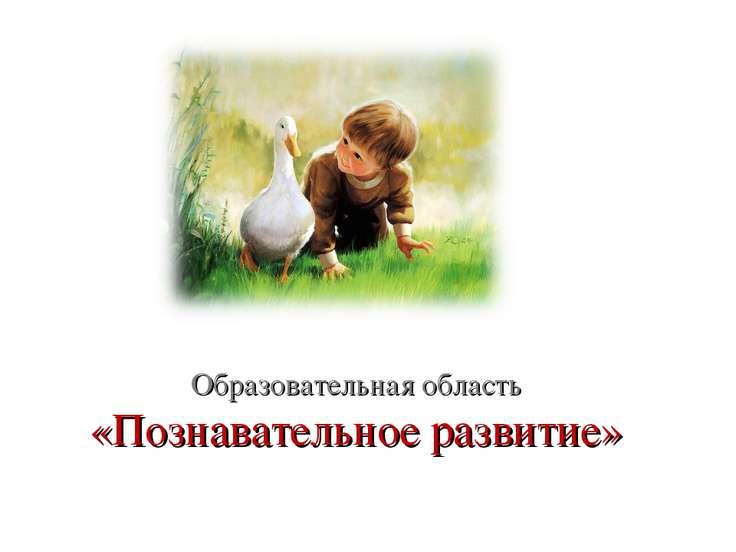 Образовательная область «Познавательное развитие»