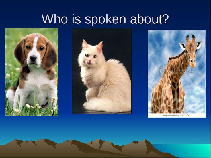 Who is spoken about?