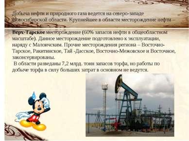 Добыча нефти и природного газа ведется на северо-западе Новосибирской области...