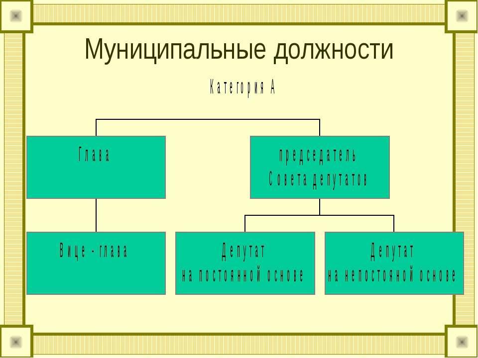 Муниципальные должности