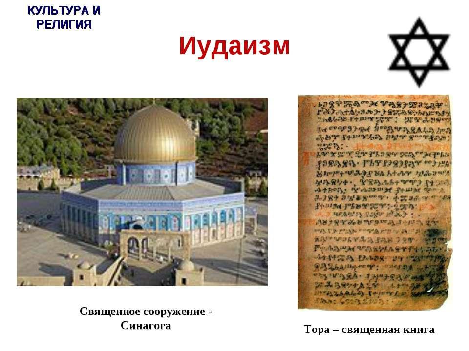 * г.Шарья и Шарьинский район Иудаизм Тора – священная книга КУЛЬТУРА И РЕЛИГИ...