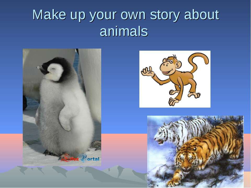 Make up your own story about animals