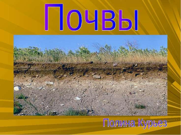 По теме презентацию почва