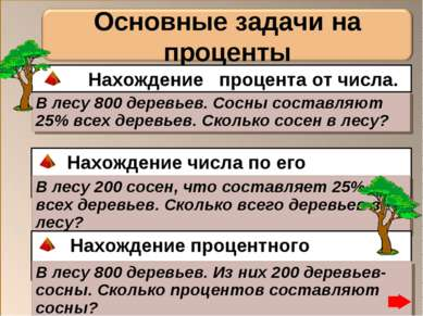 В лесу 800 деревьев. Сосны составляют 25% всех деревьев. Сколько сосен в лесу...
