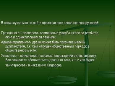 В этом случае можно найти признаки всех типов правонарушений: Гражданско – пр...