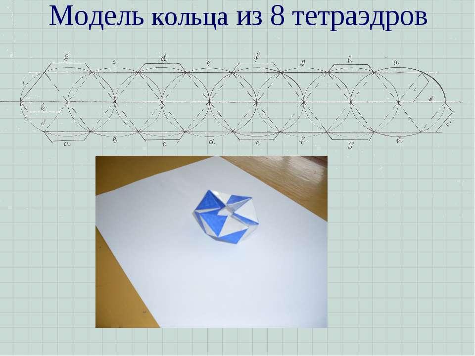 Модель кольца из 8 тетраэдров