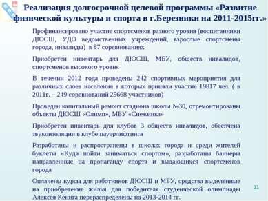 Профинансировано участие спортсменов разного уровня (воспитанники ДЮСШ, УДО в...