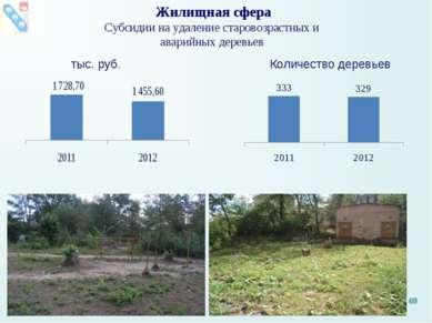 Жилищная сфера Субсидии на удаление старовозрастных и аварийных деревьев тыс....