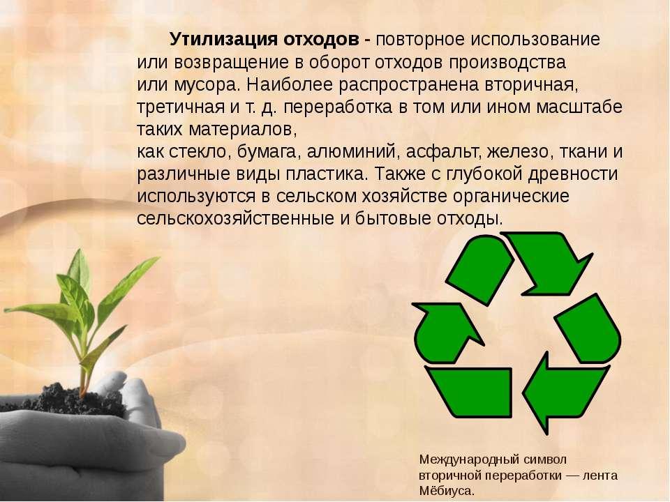Утилизация Отходов Презентация