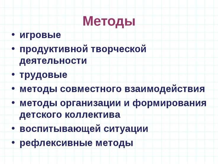 Методы игровые продуктивной творческой деятельности трудовые методы совместно...