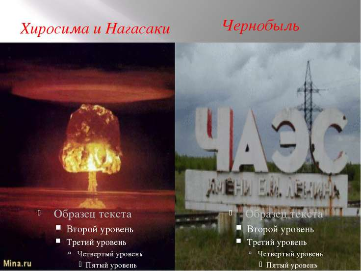Хиросима и Нагасаки Чернобыль