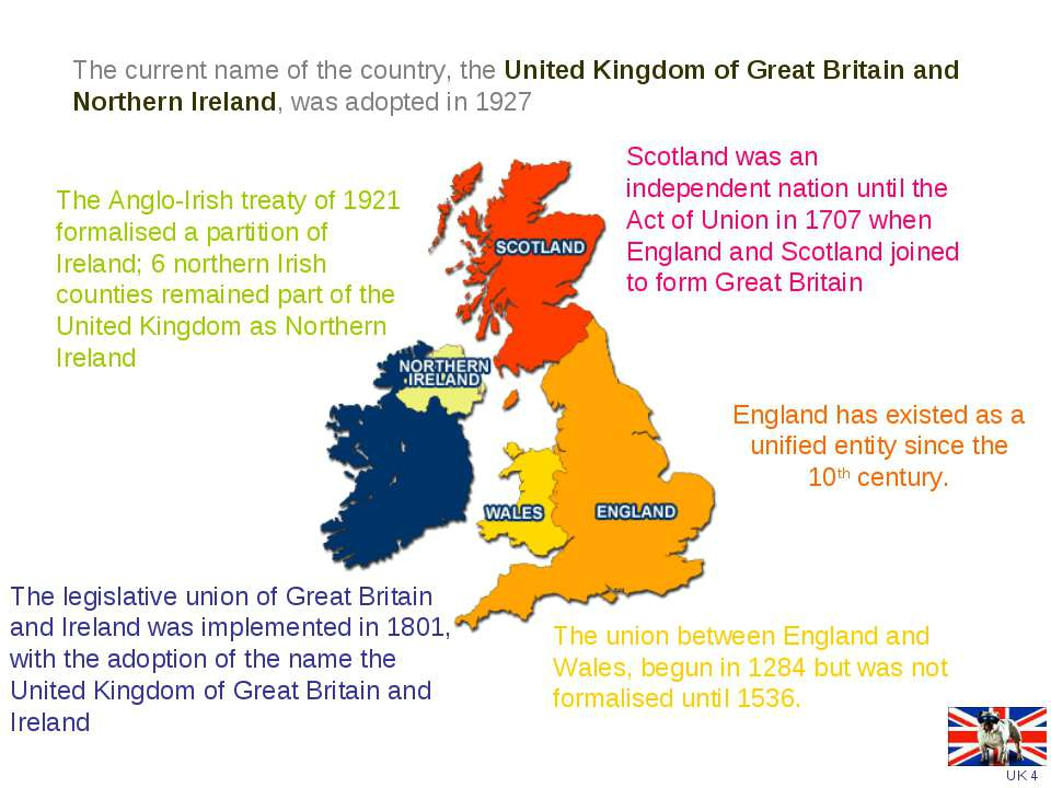 England has existed as a unified entity since the 10th century.