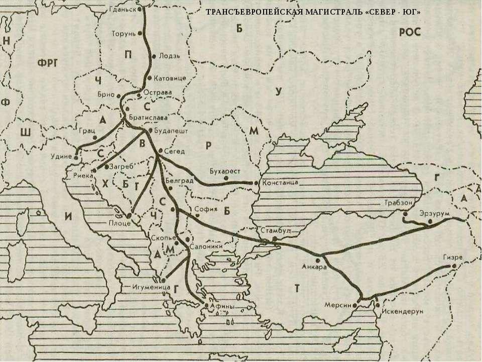 ТРАНСЪЕВРОПЕЙСКАЯ МАГИСТРАЛЬ «СЕВЕР - ЮГ» Трансъевропейская магистраль