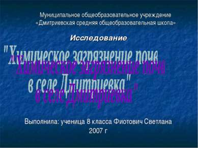 Муниципальное общеобразовательное учреждение «Дмитриевская средняя общеобразо...