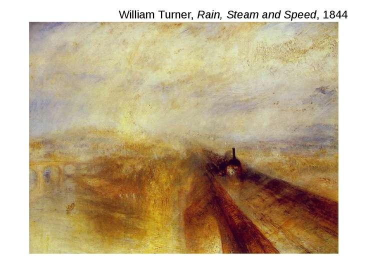 William Turner, Rain, Steam and Speed, 1844