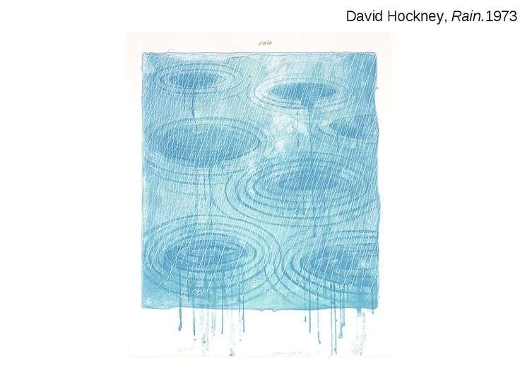 David Hockney, Rain.1973