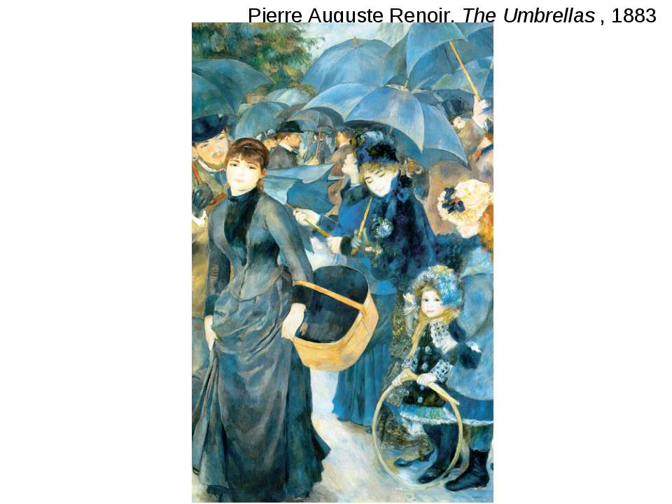 Pierre Auguste Renoir, The Umbrellas , 1883