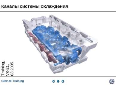 Каналы системы охлаждения Service Training *