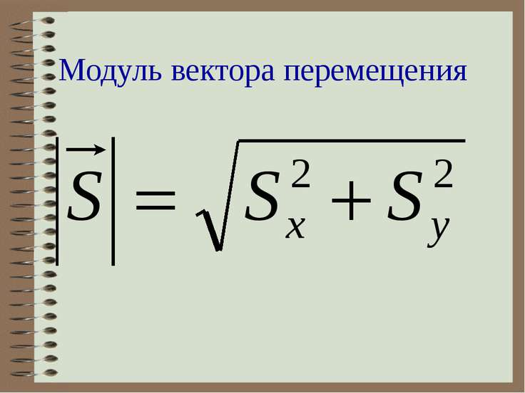 Модуль вектора перемещения