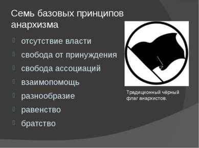 Семь базовых принципов анархизма отсутствие власти свобода от принуждения сво...