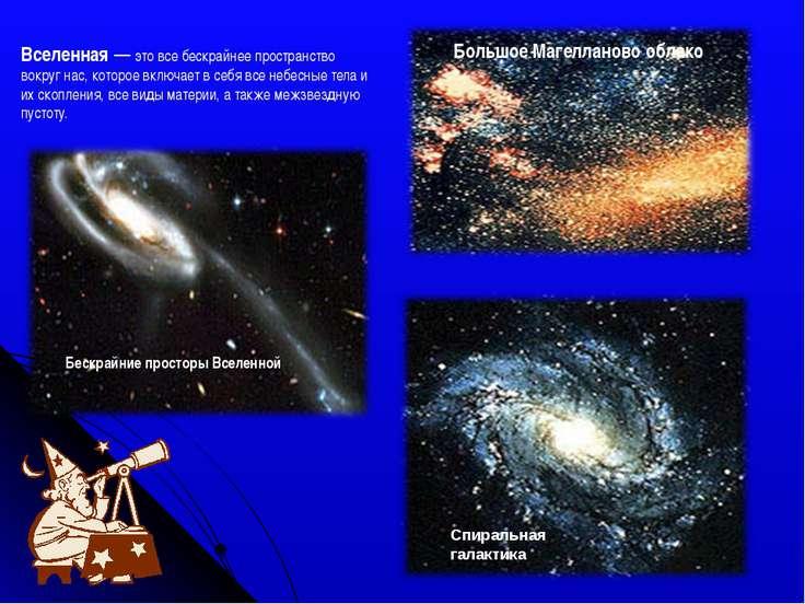 Бескрайние просторы Вселенной Спиральная галактика Большое Магелланово облако...
