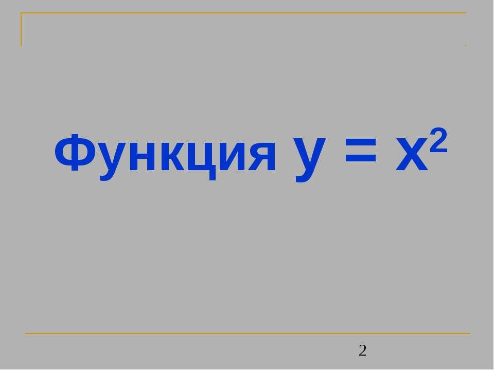 Функция y = x2