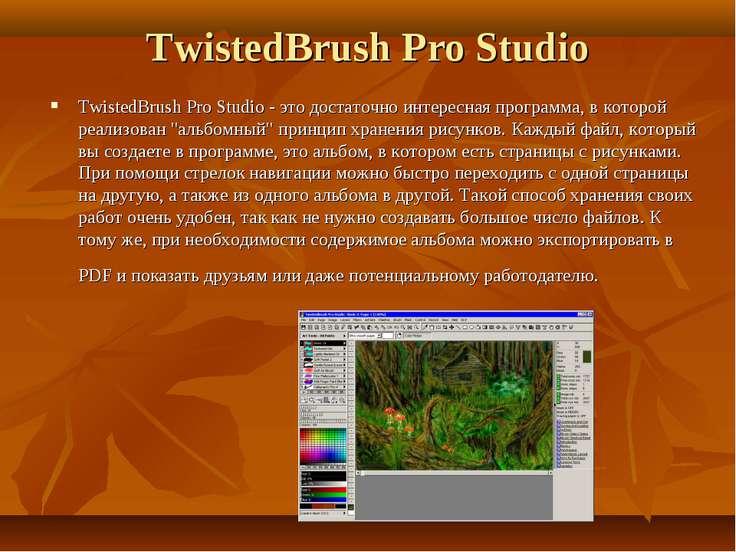 TwistedBrush Pro Studio TwistedBrush Pro Studio - это достаточно интересная п...
