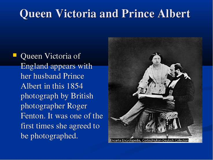 Queen Victoria and Prince Albert Queen Victoria of England appears with her h...