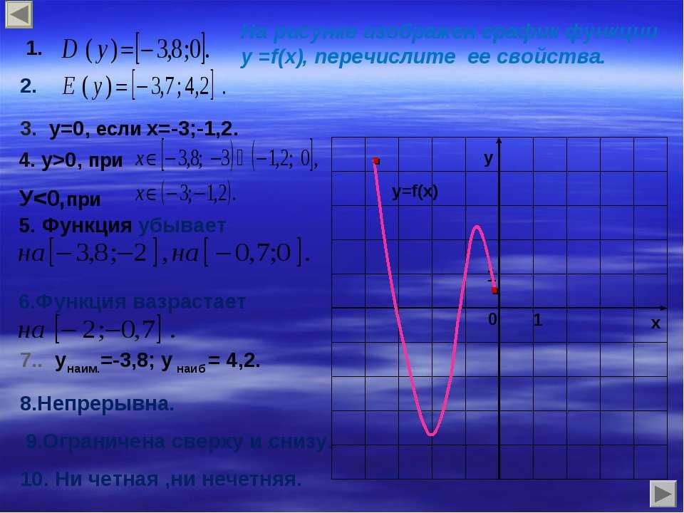3. у=0, если х=-3;-1,2. 4. у>0, при У